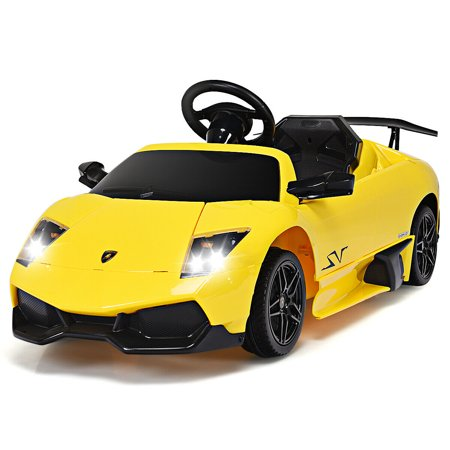 Gymax 12V Lamborghini Murciealgo Licensed Electric Kids Ride On Car RC w/ LED Lights - Big Toy Car