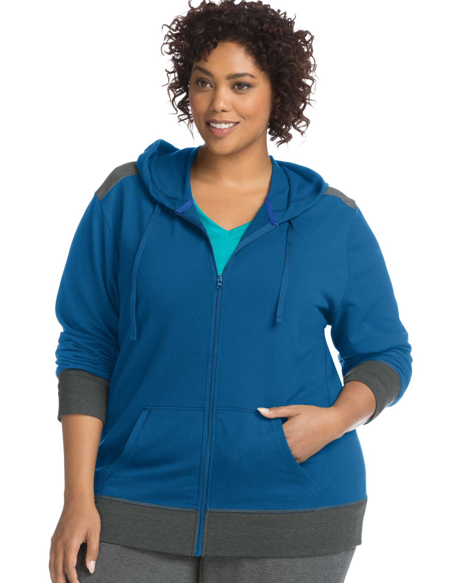add33a5529a Just My Size Womens Active French Terry Zip Hoodie