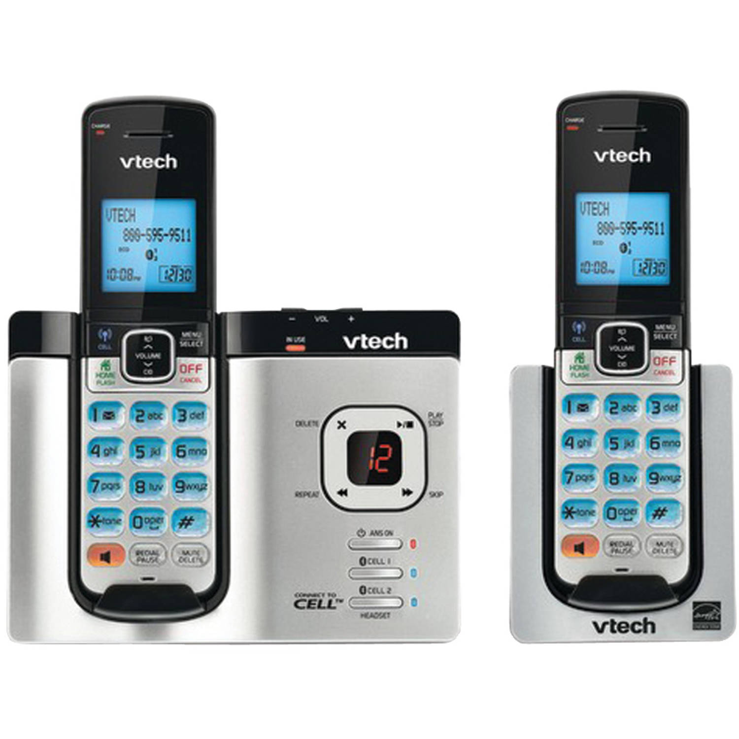 VTech Ds6621-2 Connect to Cell Phone with Answering System and 2 Handsets