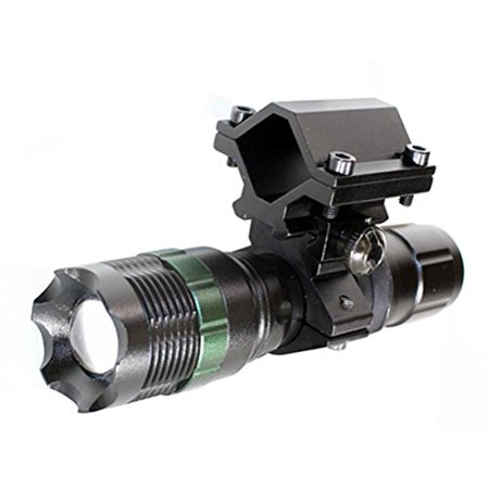 800 lumen flashlight with mount single rail for Savage stevens model 320 gauge, Hunting LED Torch, Super Bright 800 Lumens CREE LED, Water Resistant, 3 Modes Strobing and Continuous/SOS for