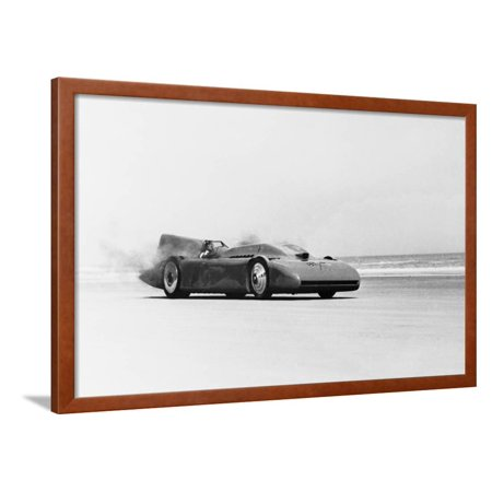View of Racecar in Motion Framed Print Wall Art Race Car Framed Art