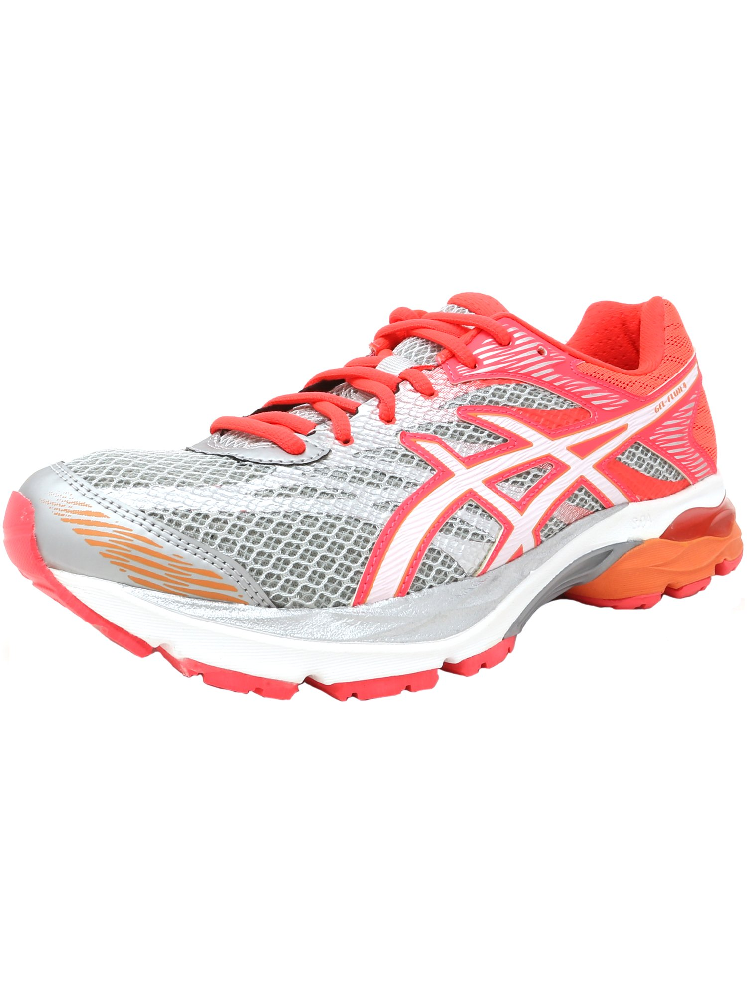 Asics Women's Gel-Flux 4 White / Snow Flash Coral Ankle-High Mesh Running Shoe - 9M