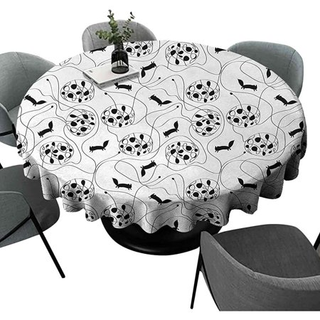 Lmell Abstract Round Tablecloths Modern, Cool Round Table
