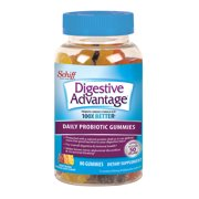 Digestive Advantage Daily Probiotic Gummies, Natural Fruit Flavors - 80 Gummies
