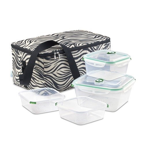 Fresh Vac Picnicpac Large Picnicpac Bag and Containers in Zebra