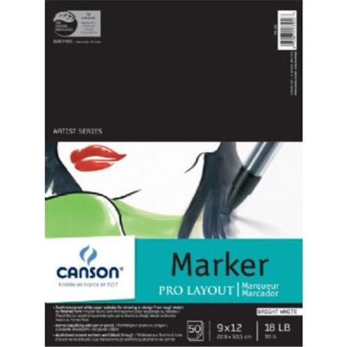 Canson Artist Series Pro-Layout Marker Pad 9in x 12in 50 Sheets/Pad