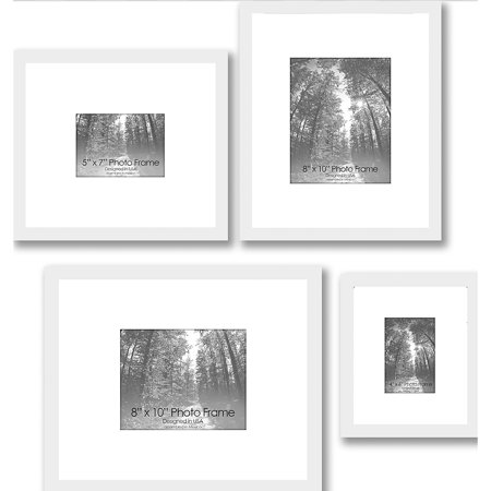 Gallery Frames, Set of 4, White - Walmart.com