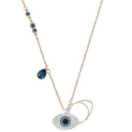 Genuine Crystal Evil Eye Drop Necklace ()