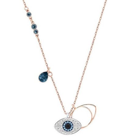 Genuine Crystal Evil Eye Drop Necklace