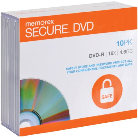 Aes 128 Encryption - 98968 Secure DVD-Rs with AES 256-Bit Software Encryption (10 Pack), Pre-Loaded with Encryptdisc(TM) Lite Software By Memorex