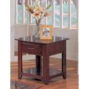 26 in. End Table in Cherry finish