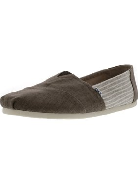 5af90cf5bf Product Image Toms Men's Classic Coated Linen Toffee Stripe Canvas Slip-On  Shoes - 11.5M
