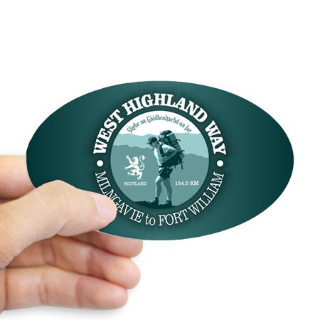 CafePress - West Highland Way Sticker - Sticker (Oval)
