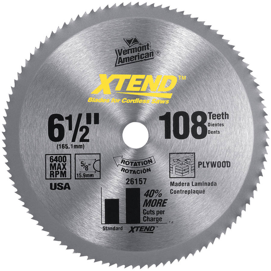 "Vermont American 26157 3-3/8"" XTEND Steel Circular Saw Blade For Wood Cutting"