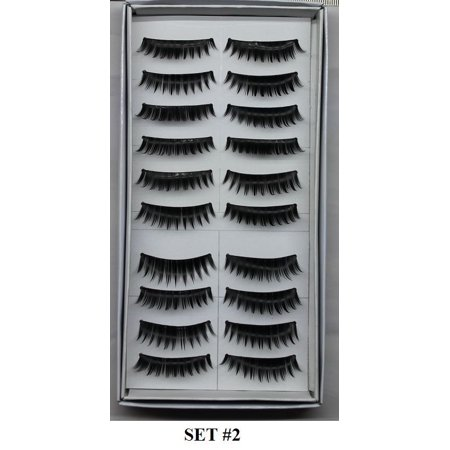 LWS LA Wholesale Store  20 Pairs Makeup Natural Fashion Long Thick False Eyelashes Eye Lashes set # (Eyelashes Makeup)