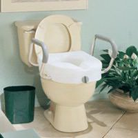 Apex Carex E Z Lock Raised Toilet Seat With Handles Model