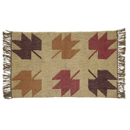 Tassel Accent (Beige Tan Rustic & Lodge Flooring Braddock Jute Knotted Tassels Nature Print Rectangle Accent)