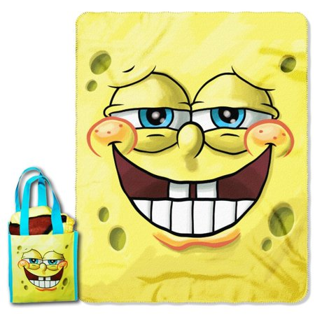 Spongebob Squarepants Throw And Pillow Set : SPONGEBOB THROW & TOTE SET - Walmart.com