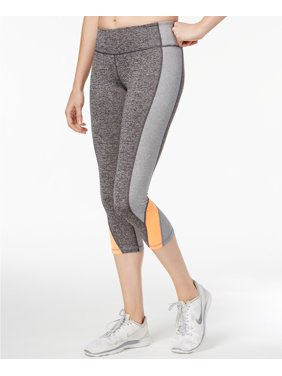 876ddfff0bab9 Product Image Ideology Women's Heathered Colorblocked Cropped Leggings Grey  Size Small