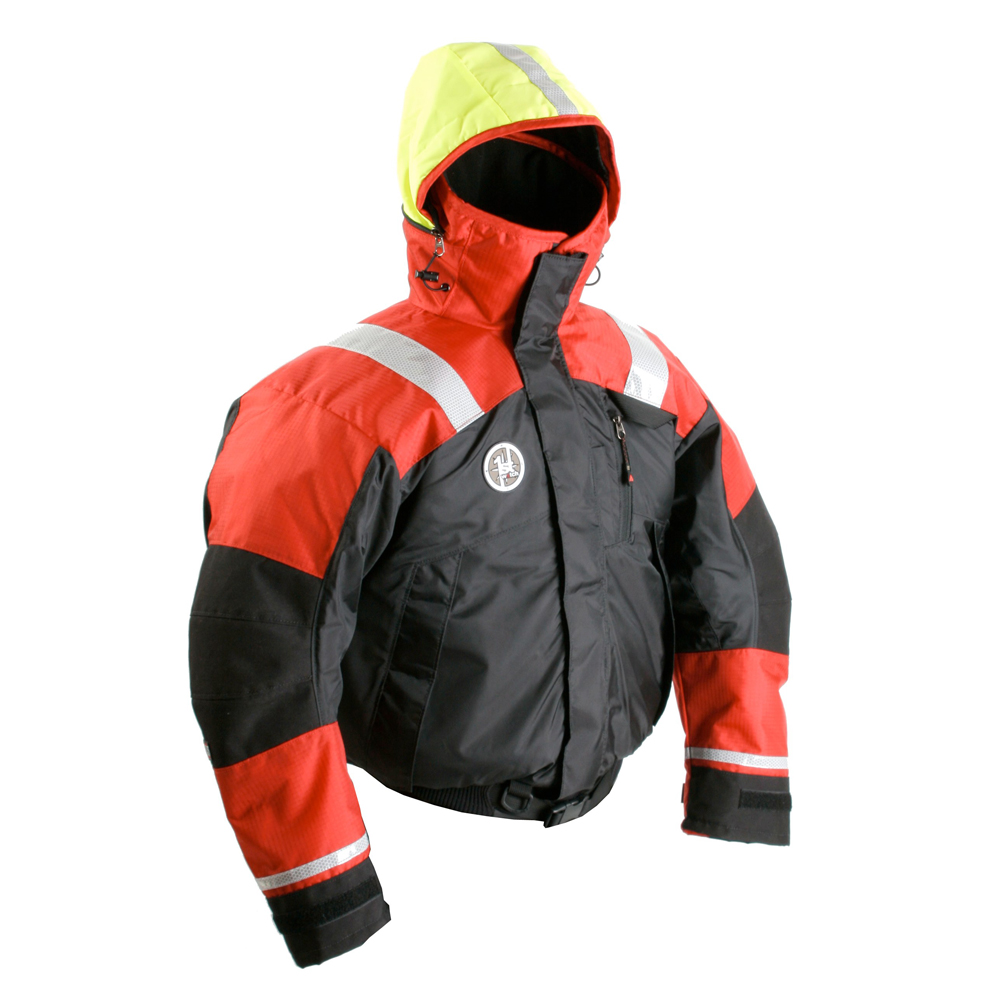 FIRST WATCH AB-1100 FLOTATION BOMBER JACKET MED RED/BLACK