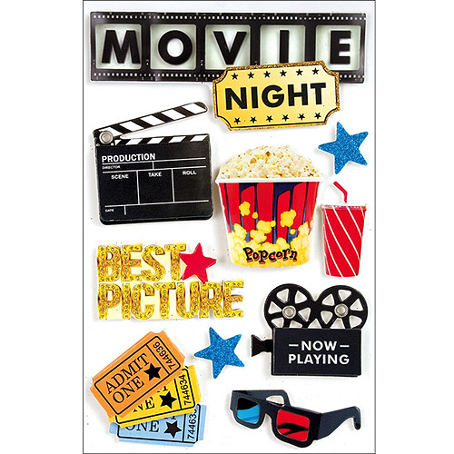 Paper House 3D Stickers, Movie Night