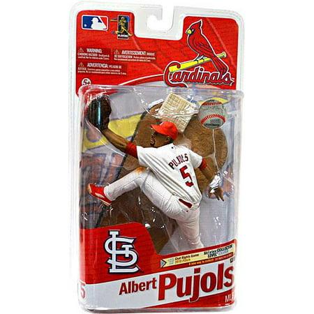 McFarlane MLB Sports Picks Series 27 Albert Pujols Action Figure [White Jersey] ()