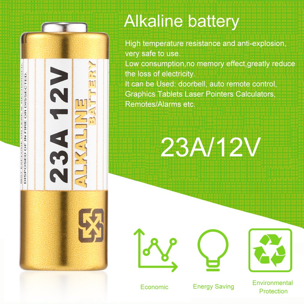 1pcs 23A 12V Small Alkaline Dry Battery for Doorbell Auto...