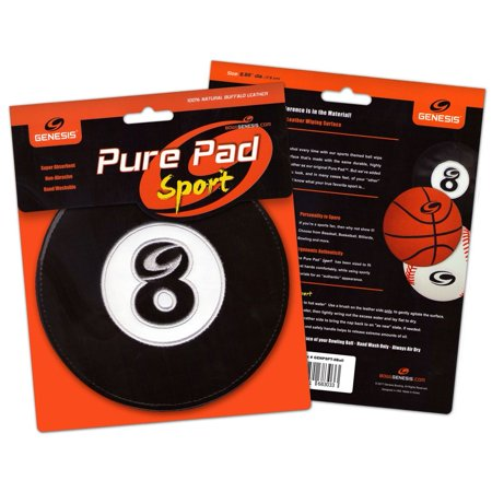 Genesis Pure Pad Sport Bowling Ball Wipe Pad- 8 Ball Billiards (Bowling Ball Cleaning Wipes)
