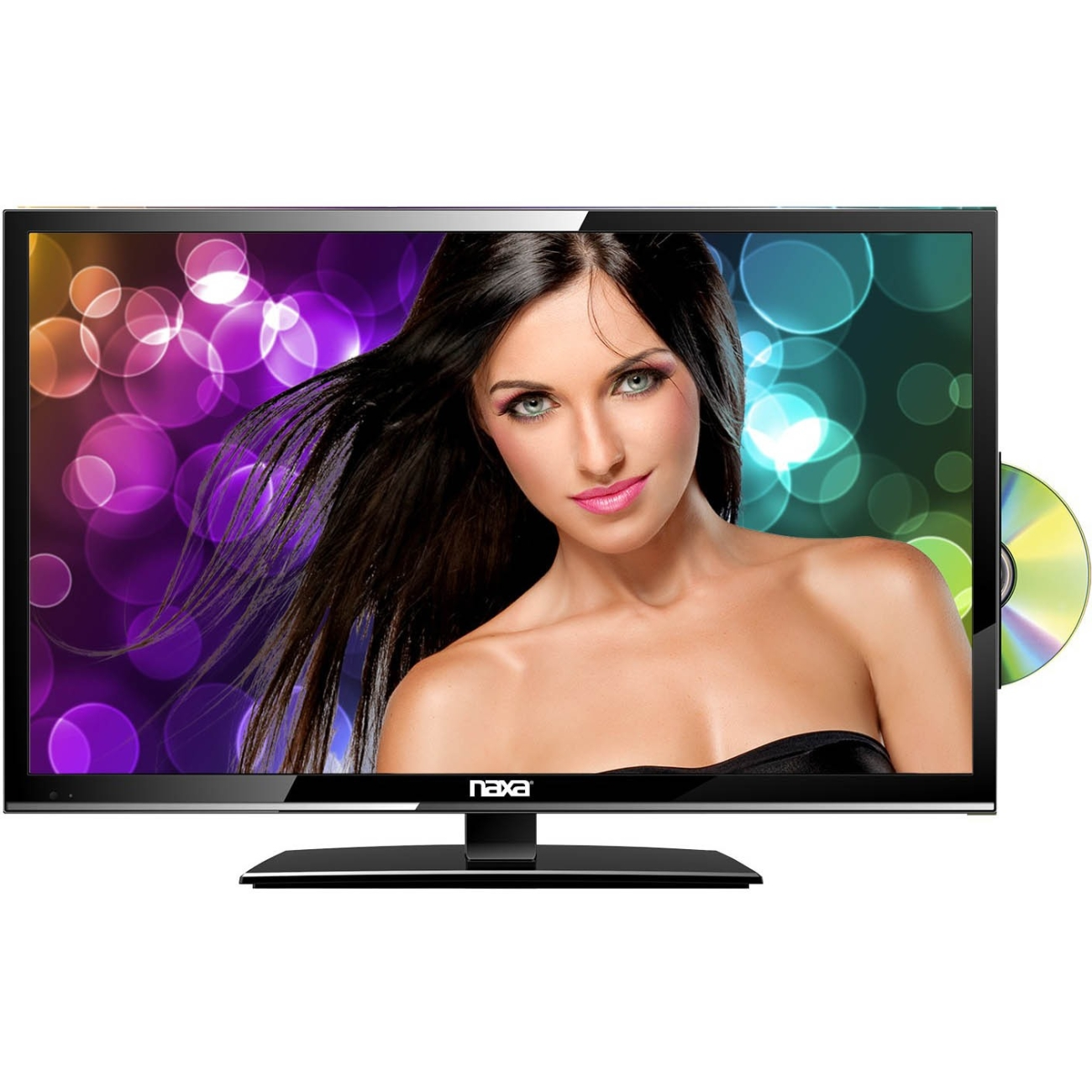 "Naxa NTD-1955 19"" 720p 60Hz LED HDTV with DVD Player with Car Package"
