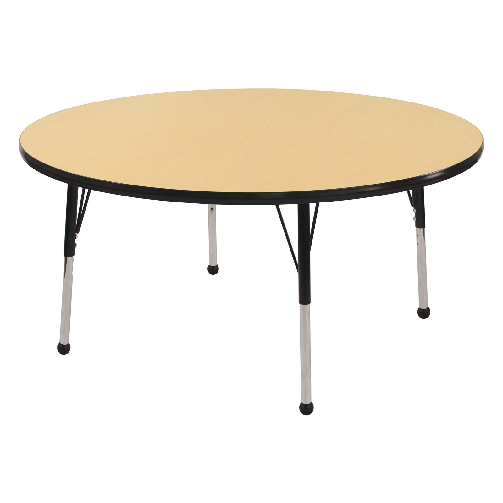 Adjustable Activity Table in Maple and Black (Toddler: 30 in. Dia. x 15 in. - 23 in. H)