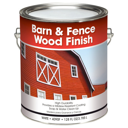 Glidden Barn & Fence Wood Finish, White, 1 gal