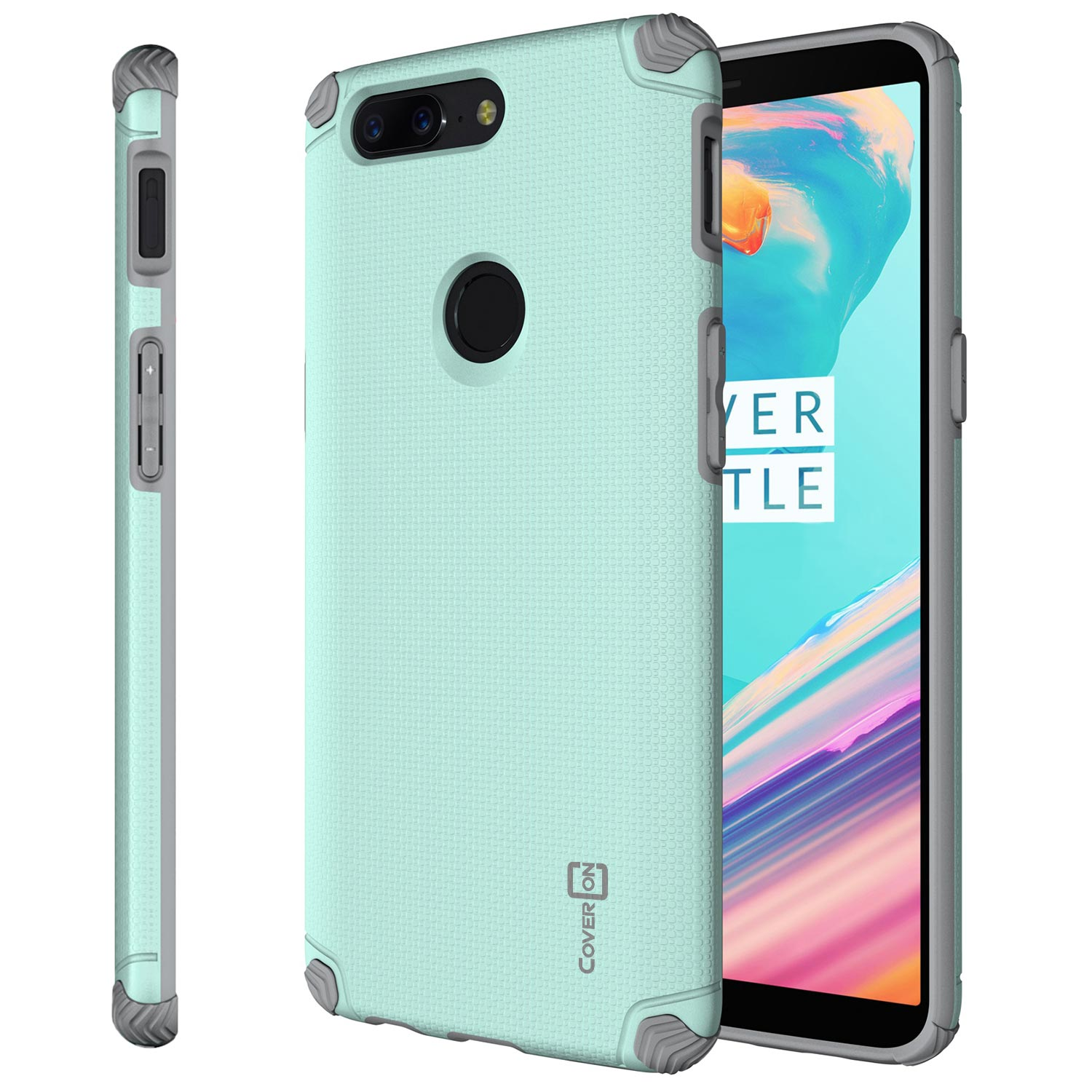 sports shoes 3fc51 928fb CoverON OnePlus 5T Case, Bios Series Slim Modern Hard Phone Cover with  Magnet