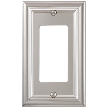Hand Painted Wall Plate (Elumina Continental Cast, Satin Nickel Wallplate, Rocker )