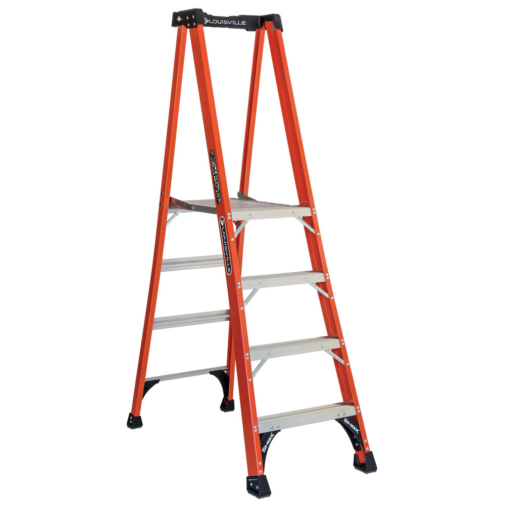 Louisville FXP1804HD 4 ft. Type IAA Duty Rating 375 lbs. Load Capacity Fiberglass Platform Step Ladder