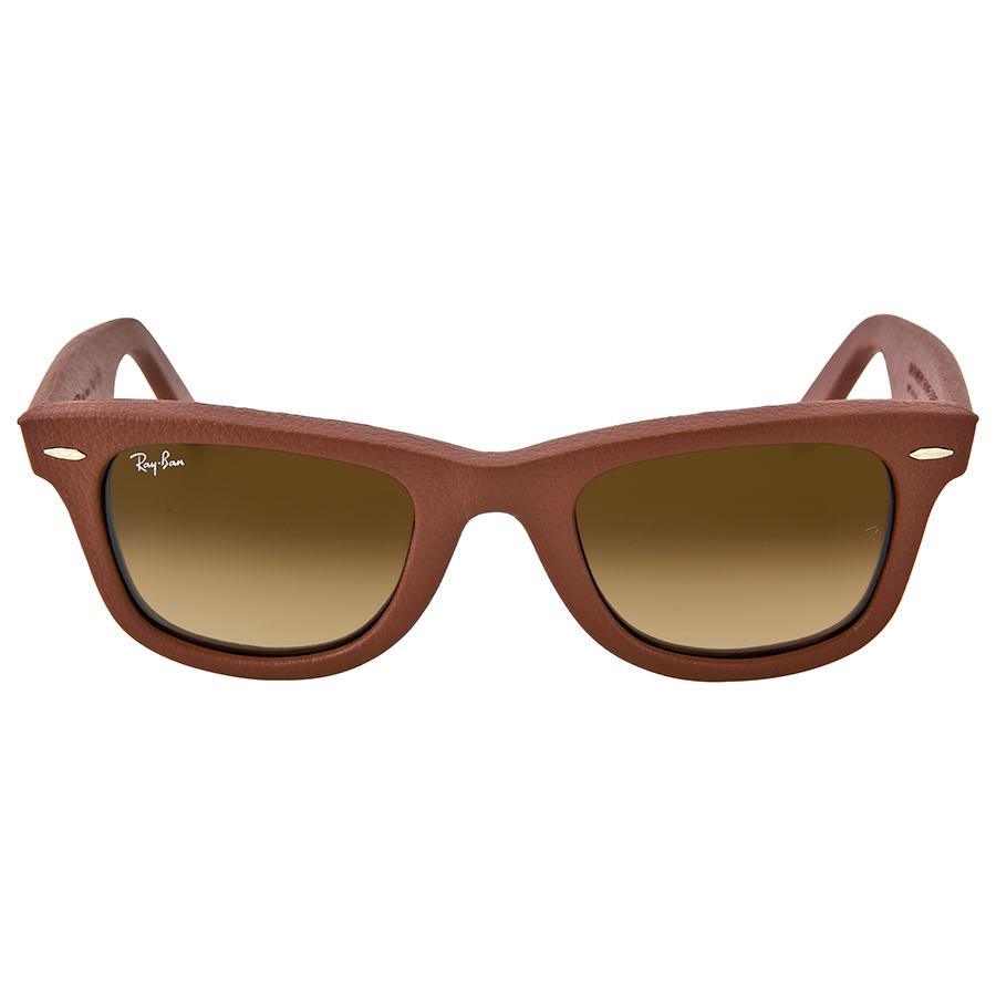 Ray ban sunglasses with price - Ray Ban Wayfarer Leather Brown Gradient Brown Frame Sunglasses Walmart Com