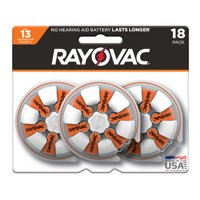 Rayovac Size 13 Hearing Aid Batteries, 18-Pack 13-18