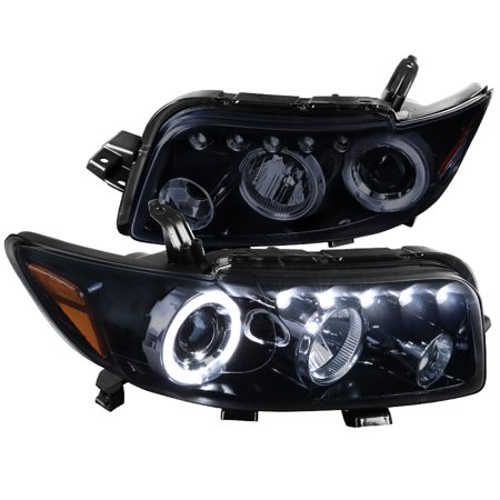 Spec-D Tuning For 2008-2010 Scion Xb Replacement Glossy Black Halo Led Projector Headlights Head Lamps Pair (Left+Right) 2008 2009 (09 Scion Xb Led)