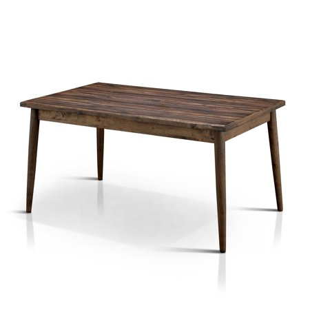 Furniture of America  Sevo Midcentury Modern Brown 59-inch Dining Table Halo Dining Table