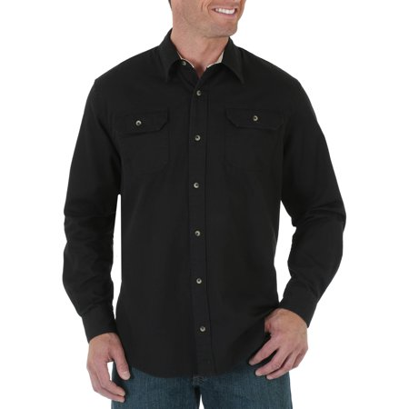 Big and Tall Mens Long Sleeve Solid Twill