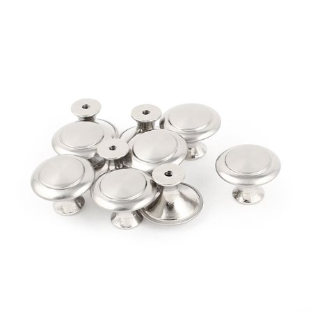 Uxcell 10 x Round Top Metal Wardrobe Cupboard Drawer Door Pull Knob 28x21mm Replacement