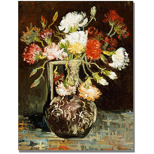 "Trademark Fine Art ""Bouquet of Flowers II"" Canvas Art by Vincent van Gogh"
