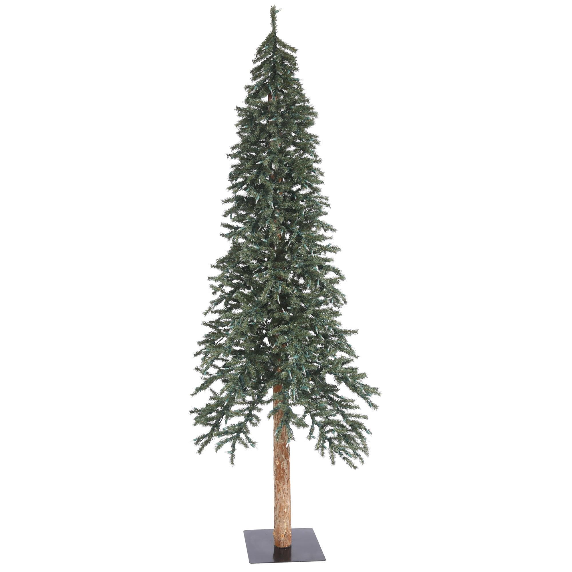 "Vickerman Artificial Christmas Tree 8' x 50"" Natural Bark Alpine Tree 1221 Tips"