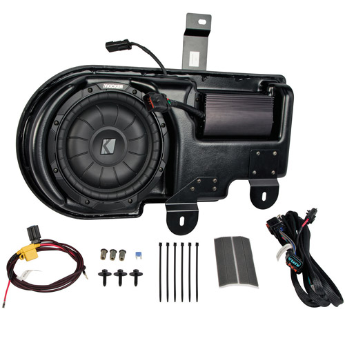 Kicker VSS Multi-Channel Amplifier and Subwoofer Kit for 2013-2014 Ford F-150 Super Crew with MyFord Radio
