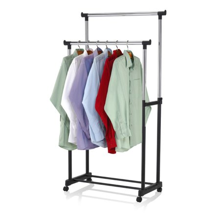 Double Hanging - Sunbeam Double Hanging Garment Rack with Wheels