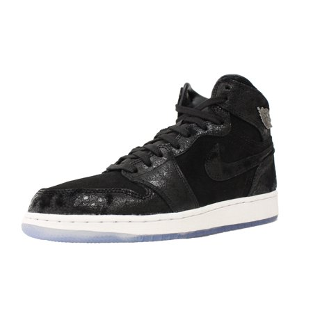 6185be39f25ba1 Jordan - NIKE AIR JORDAN 1 RETRO HIGH GS SZ 9.5 Y BLACK WHITE GYM RED HEIRESS  832596 001 - Walmart.com