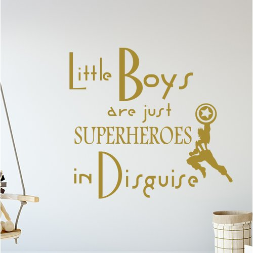 Zoomie Kids Godinez Little Boys Are Just Superheroes Quote Wall Decal