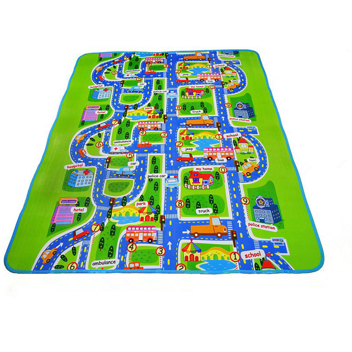 Toddler Rugs,Kids Carpet Play mat Rug City Life-Play, Learn and Have Fun Safely - Kids Baby, Children Educational Road Traffic Play Mat, For Bedroom Play Room Game Safe Area