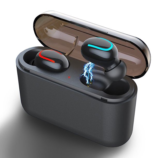 Tsv True Wireless Earbuds Bluetooth 5 0 Headphones With Charging Case Waterproof Sweatproof Tws Stereo Earphones In Ear Built In Noise Cancelling Microphone Headset 4hours Play Time For Sport Walmart Com Walmart Com