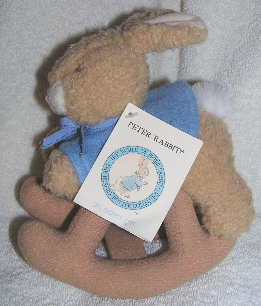"Beatrix Potter 8"" Plush Peter Rabbit Rocking Doll, Beatrix Potter Plush Peter Rabbit Rocking Doll By Eden... by"