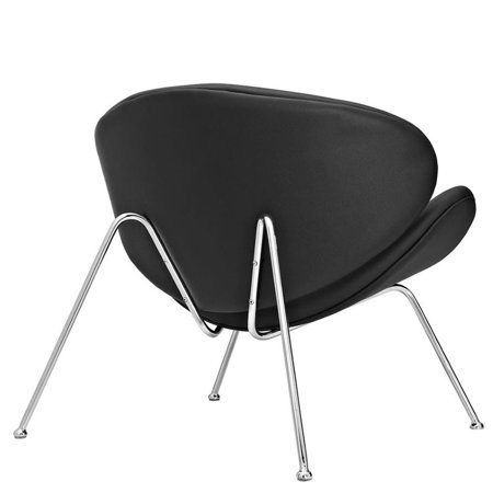 Hawthorne Collection Vinyl Accent Chair in Black - image 3 of 4
